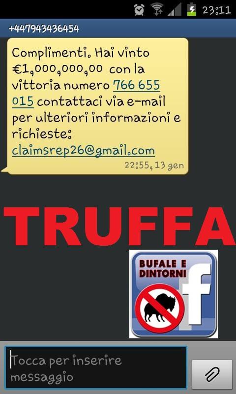 truffa sms